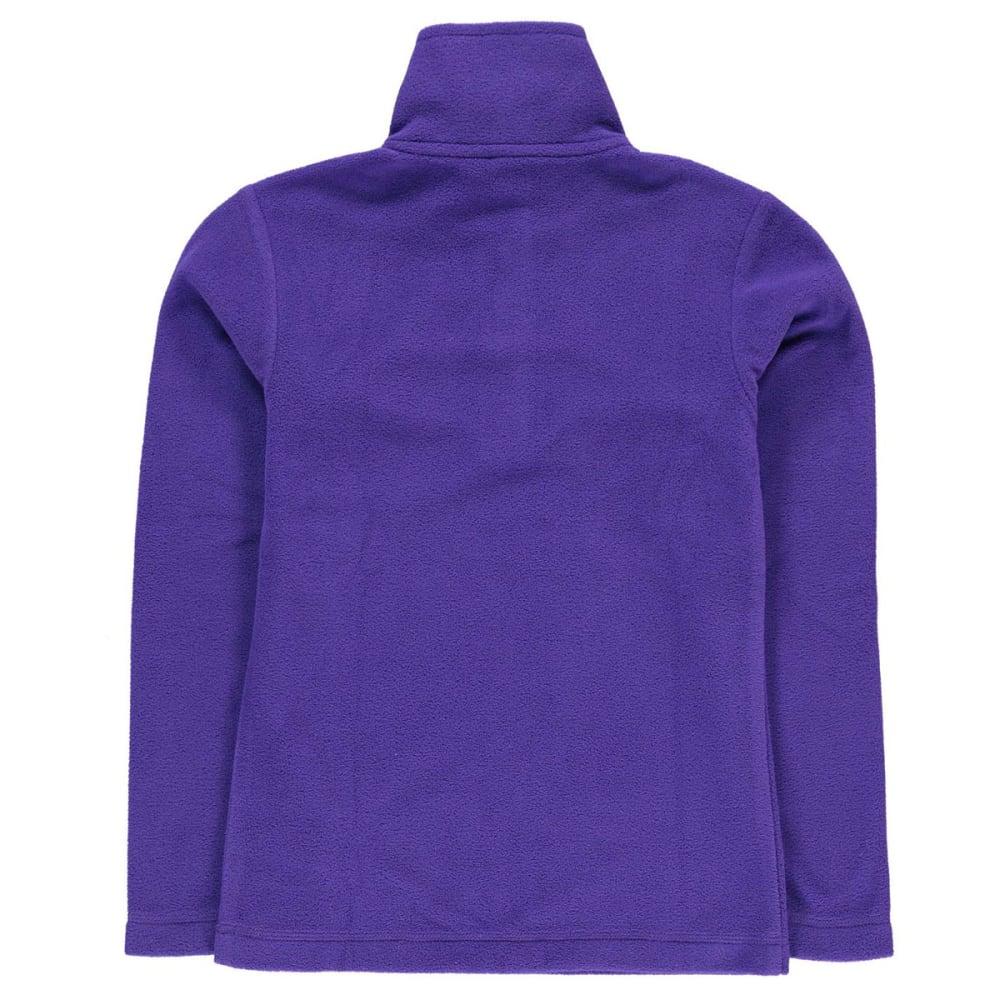 GELERT Girls' Atlantis Fleece 1/4 Zip Pullover - PURPLE