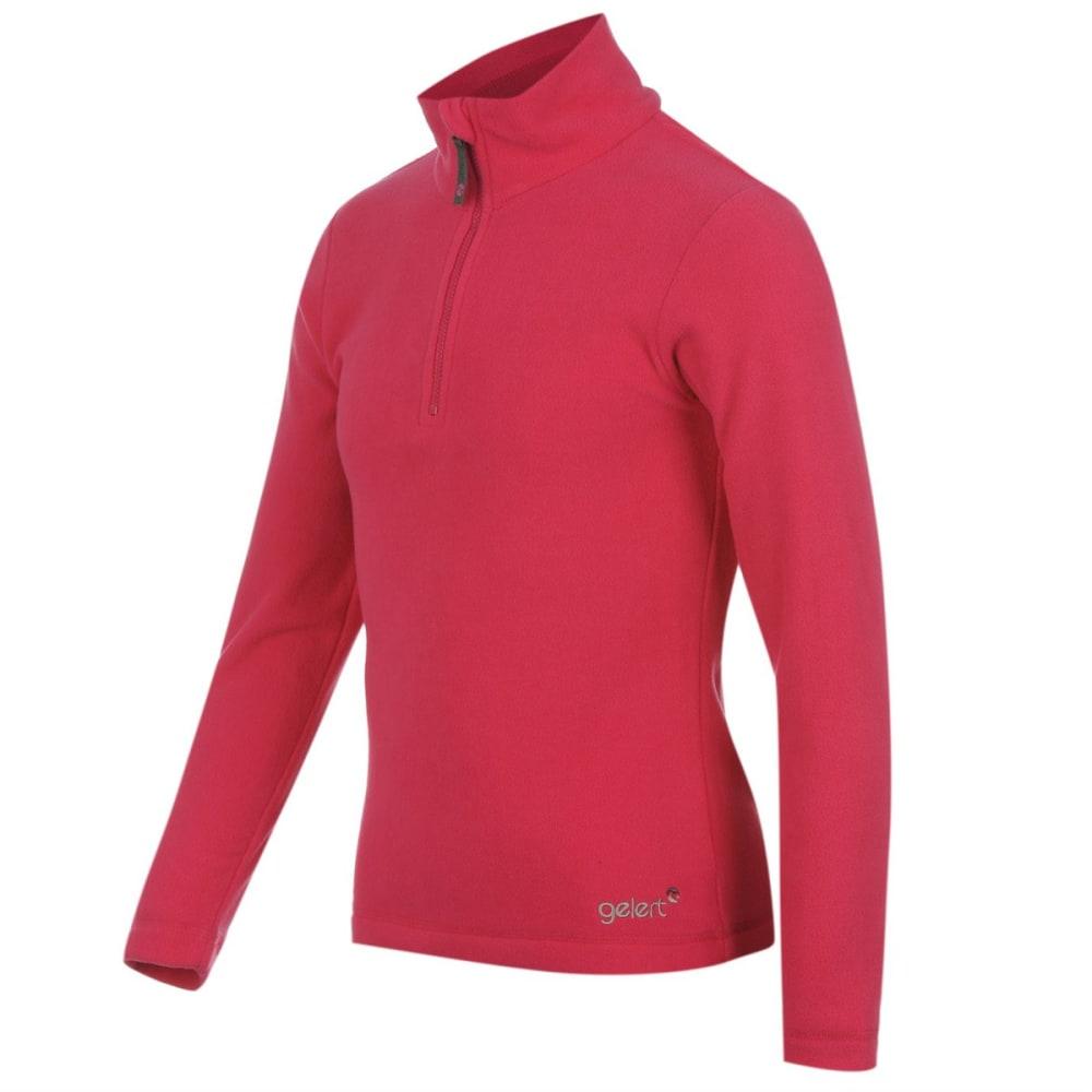 GELERT Girls' Atlantis Fleece 1/4 Zip Pullover - BRIGHT PINK
