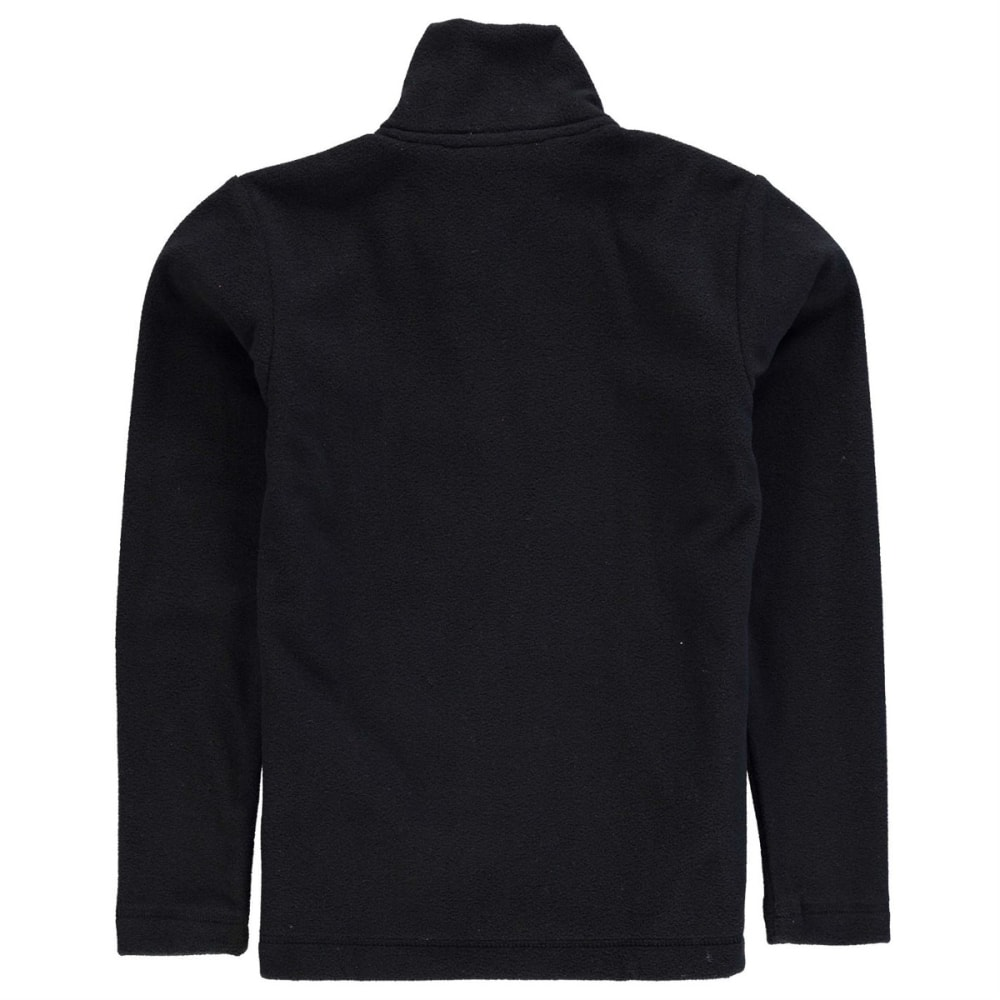 GELERT Boys' Atlantis Fleece 1/4 Zip Pullover - BLACK