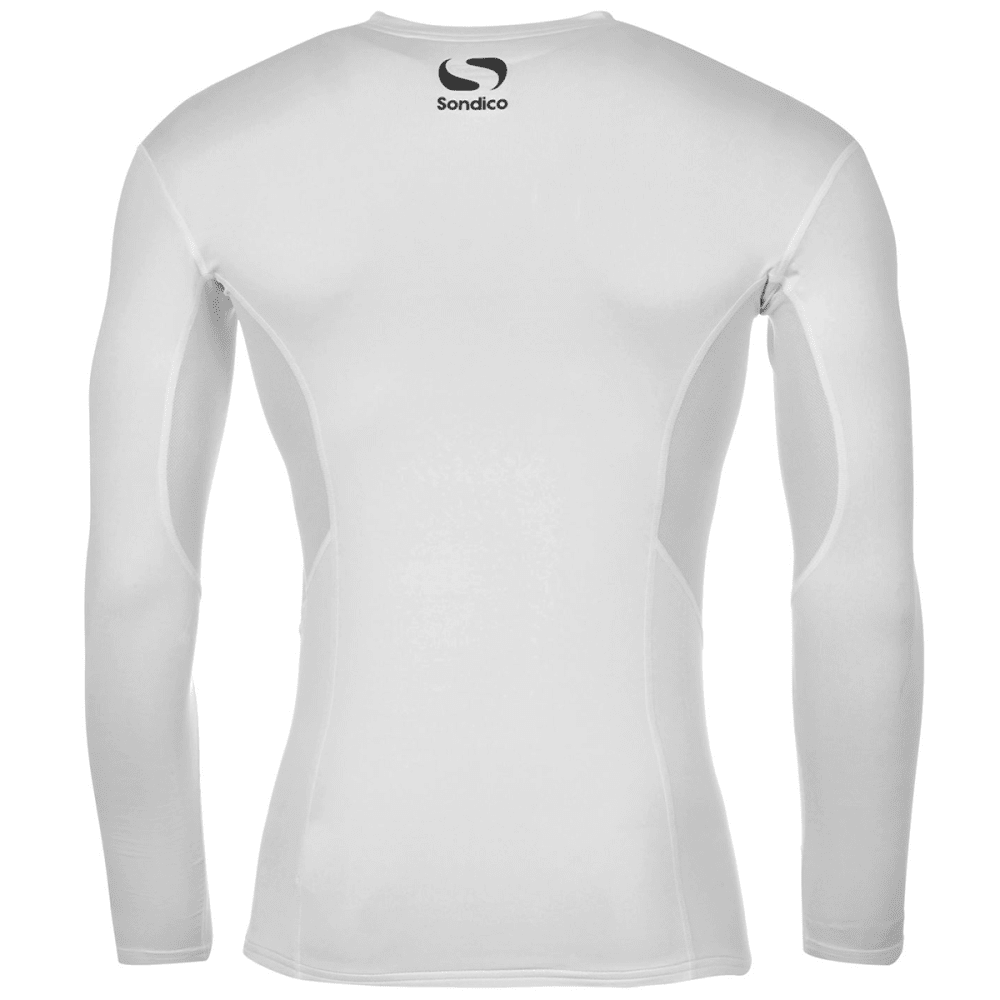 SONDICO Boys' Core Long-Sleeve Base Layer Top - WHITE
