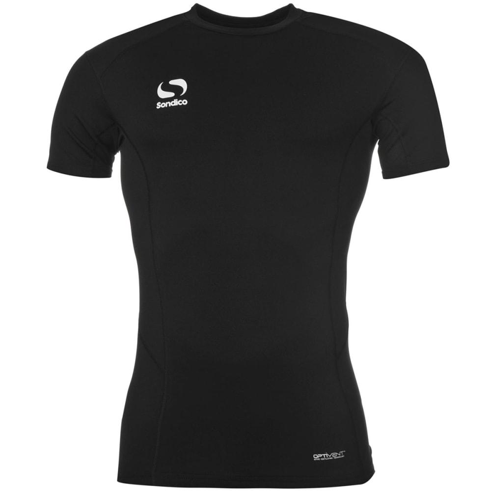 Sondico Boys Core Short-Sleeve Base Layer Top – Black