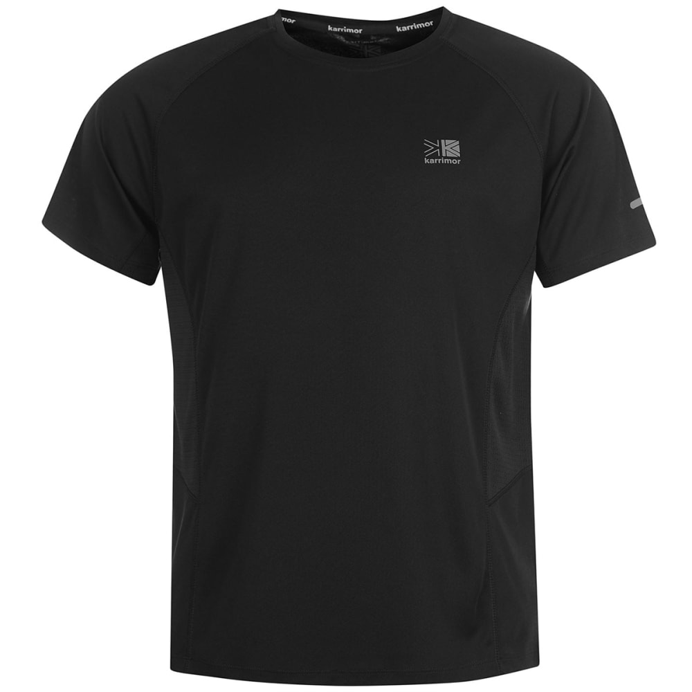 KARRIMOR Men's Run Short-Sleeve Tee - BLACK