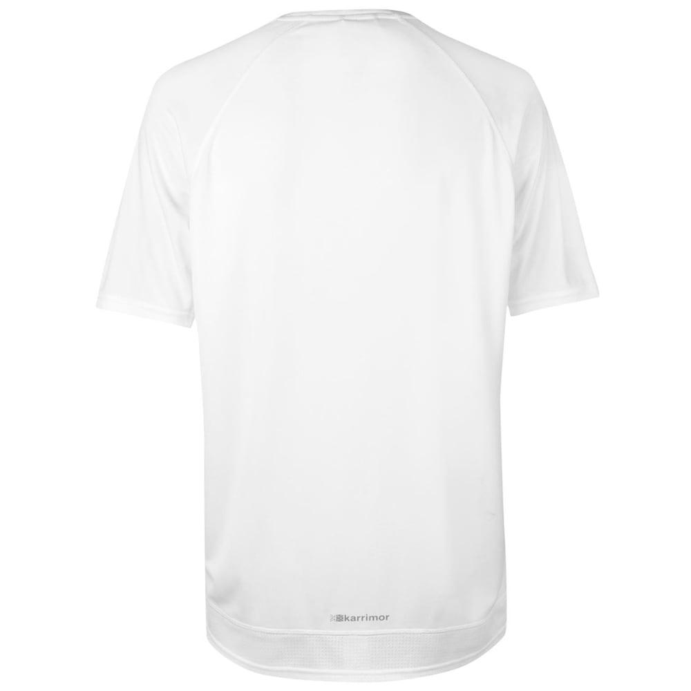 KARRIMOR Men's Run Short-Sleeve Tee - WHITE/BLUE