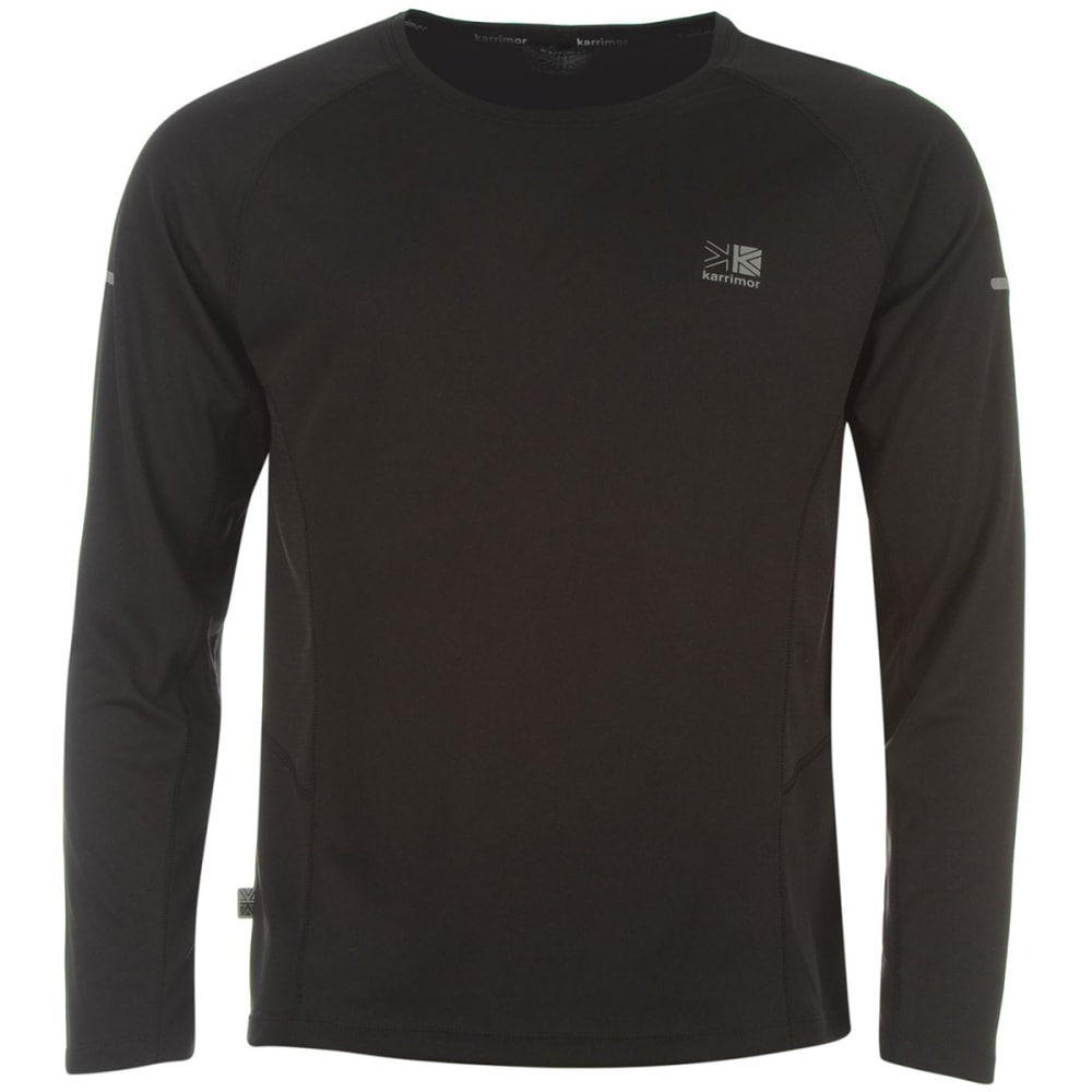 KARRIMOR Men's Running Long-Sleeve Tee - BLACK