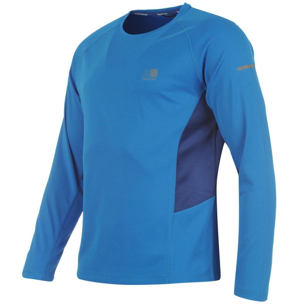 KARRIMOR Men's Running Long-Sleeve Tee - Blue/Dk Blue