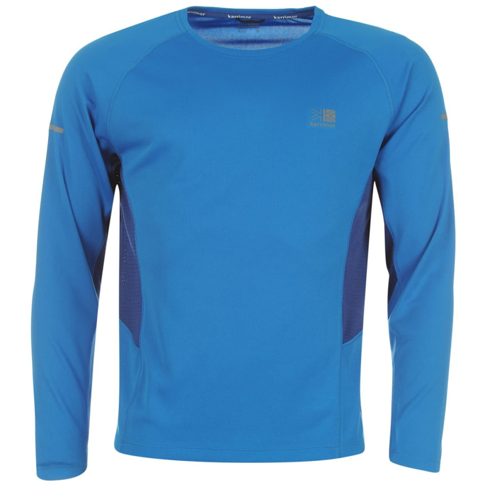 KARRIMOR Men's Running Long-Sleeve Tee - Blue/Dk Blue