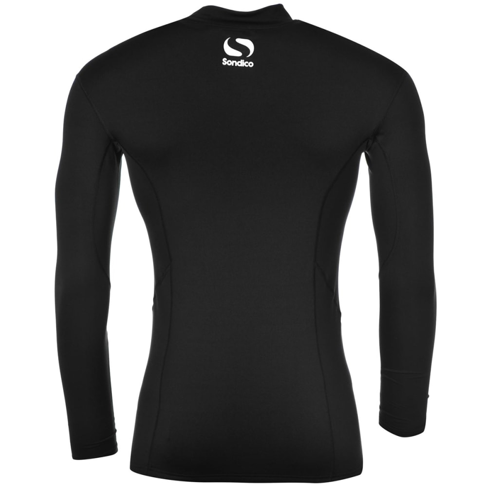 SONDICO Men's Base Mock Neck Long-Sleeve Top - BLACK