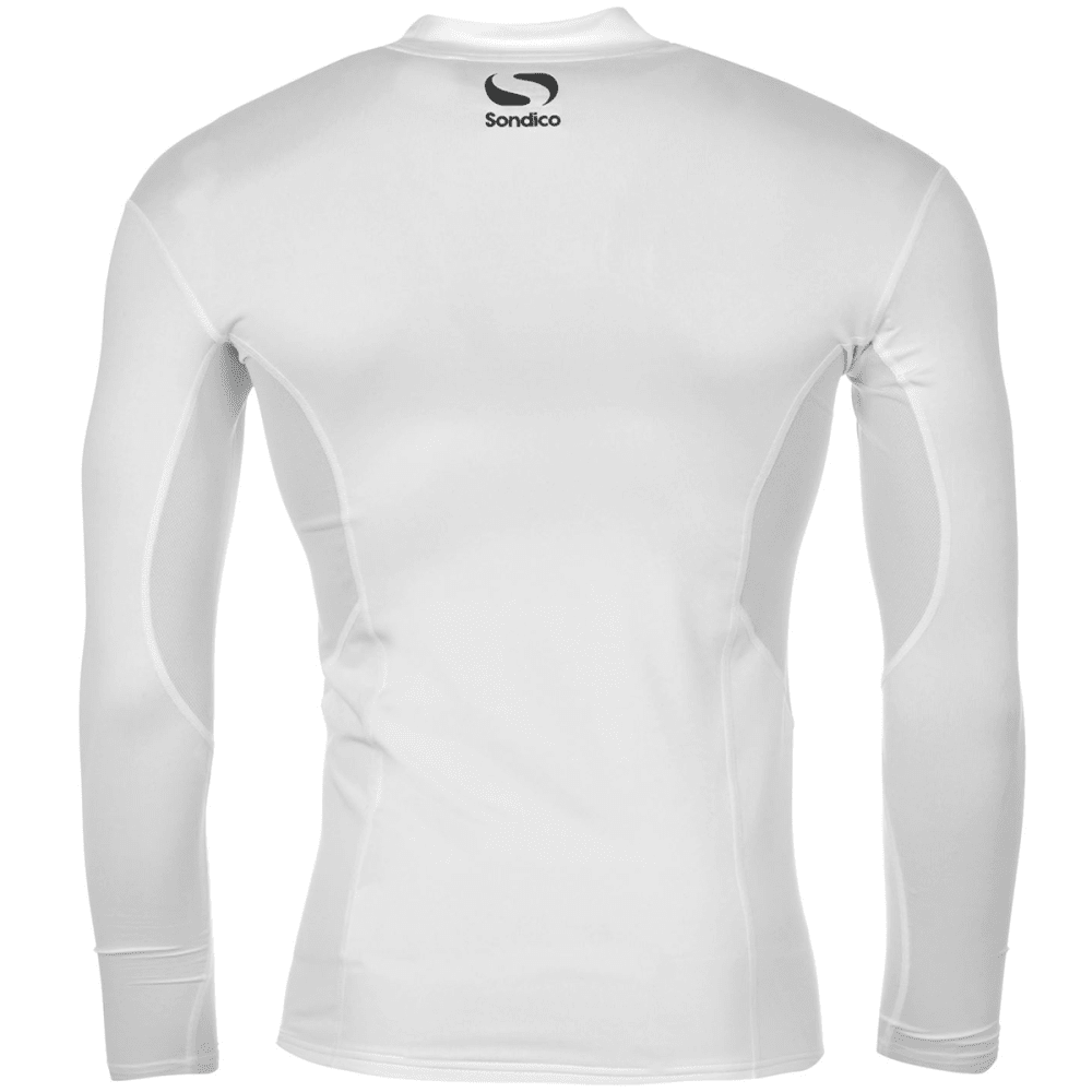 SONDICO Men's Base Mock Neck Long-Sleeve Top - WHITE
