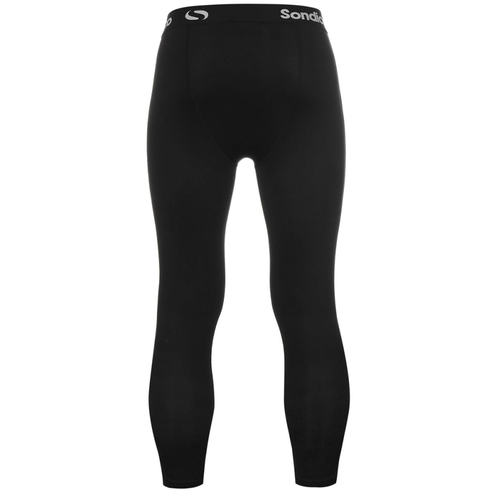 SONDICO Men's Core Three-Quarter Base Layer Tights - BLACK