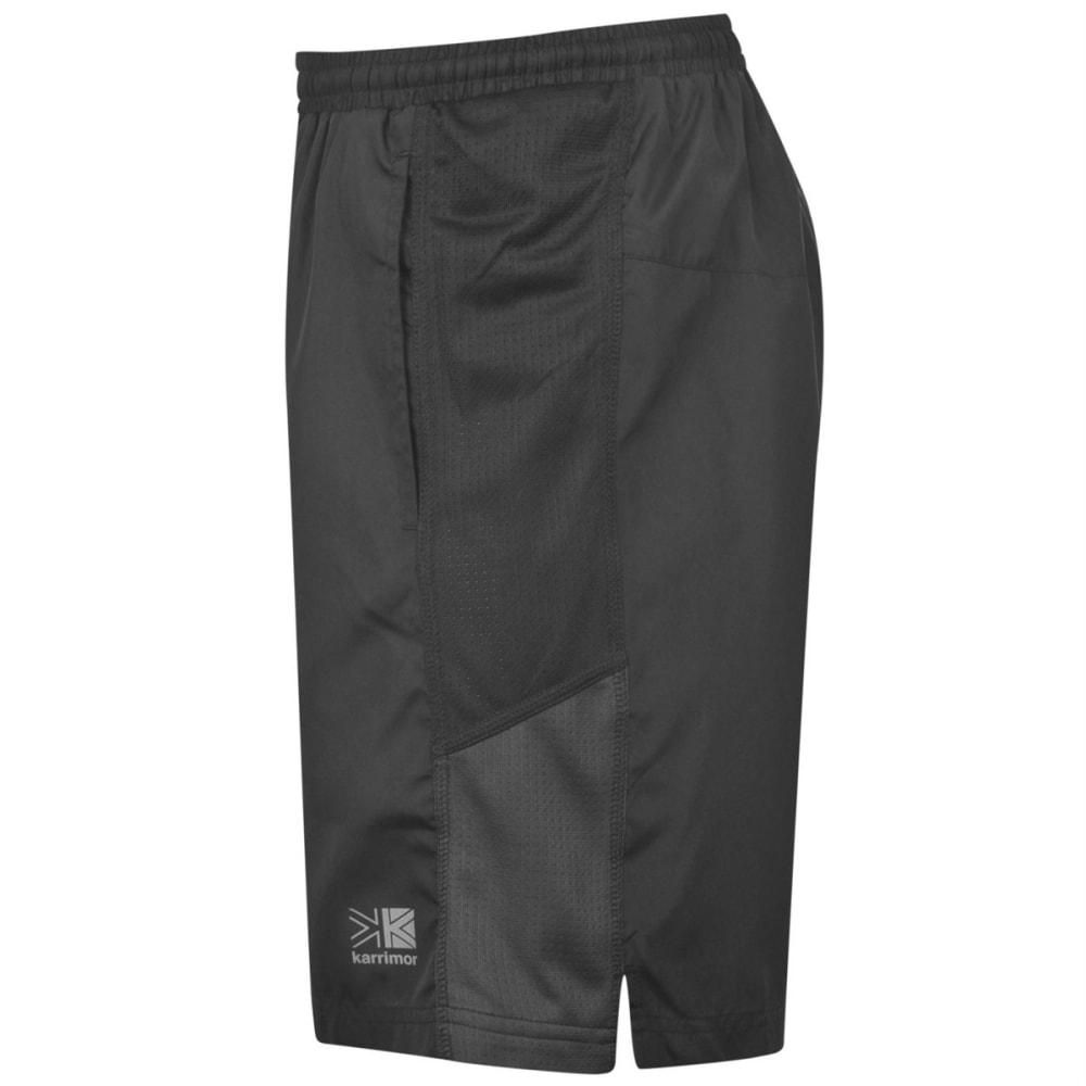 KARRIMOR Men's Long Running Shorts - BLACK