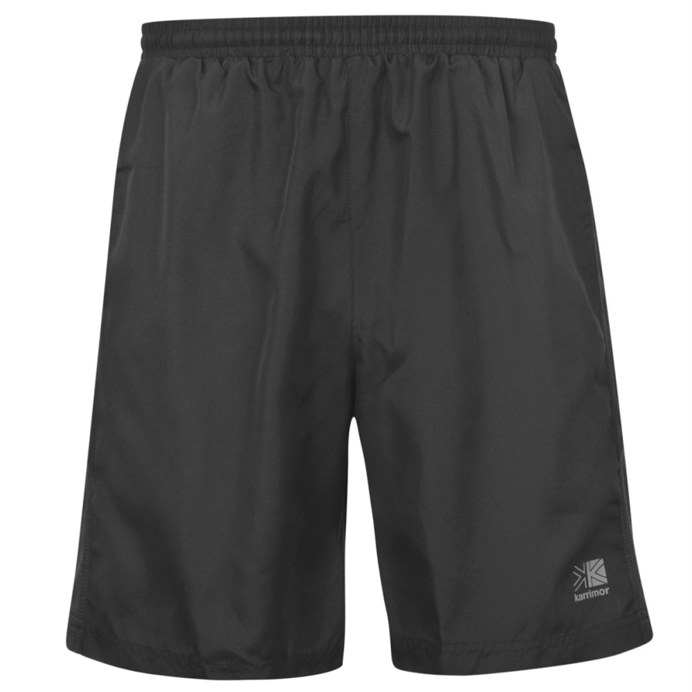 KARRIMOR Men's Long Running Shorts - BLACK