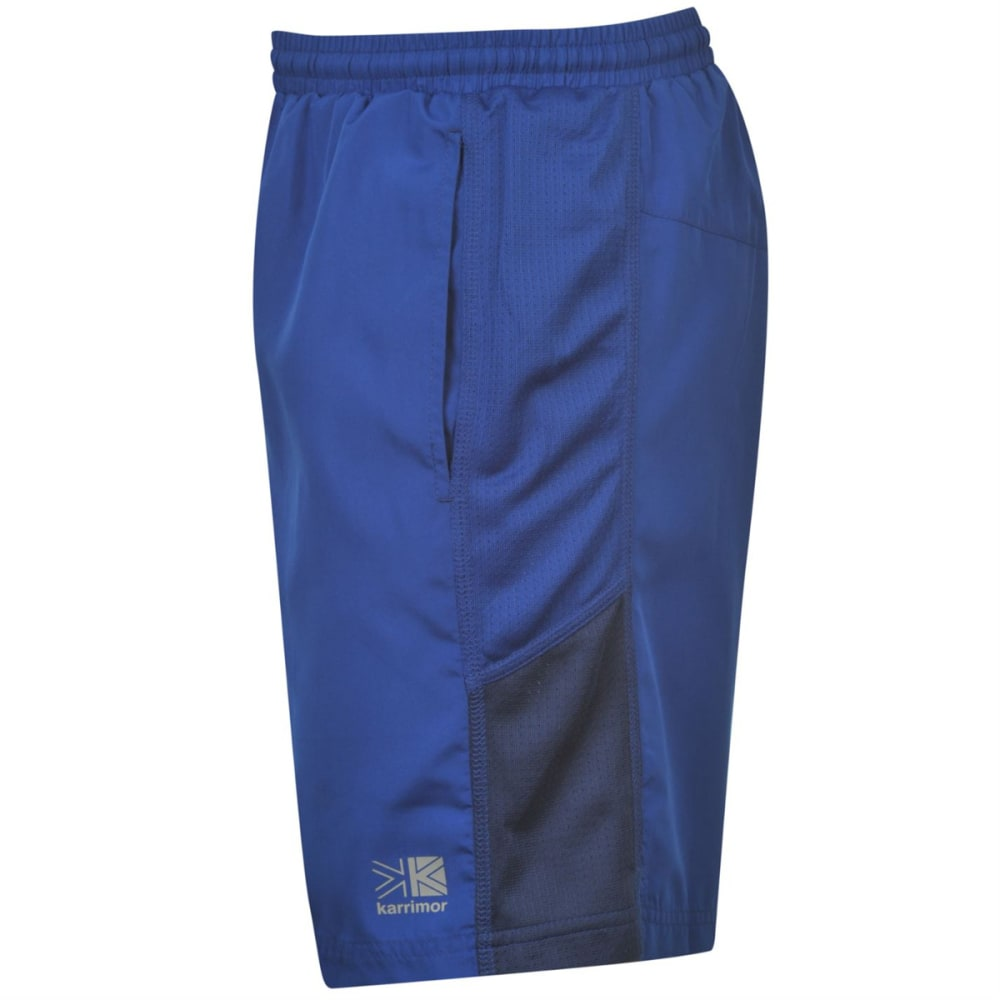 KARRIMOR Men's Long Running Shorts - CLASSIC BLUE