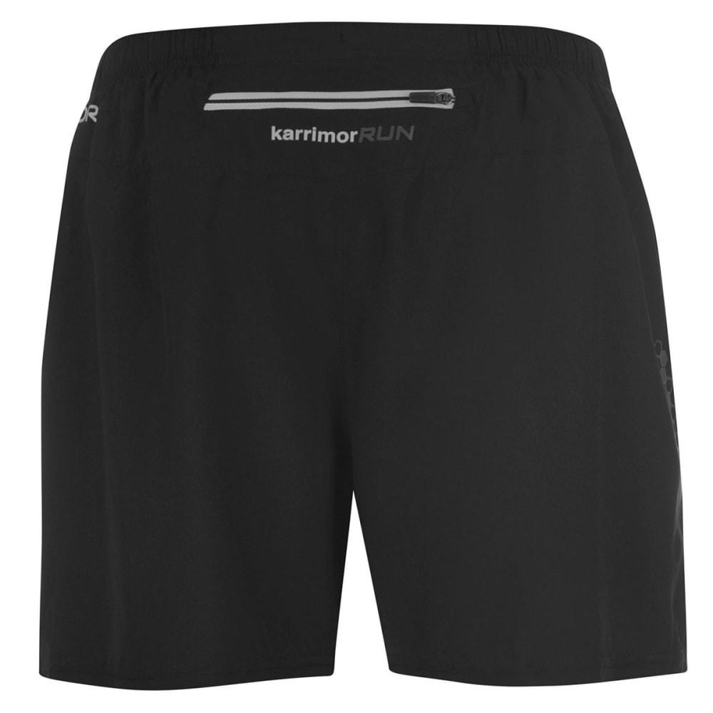 KARRIMOR Men's X 5 Inch Running Shorts - BLACK/BLACK