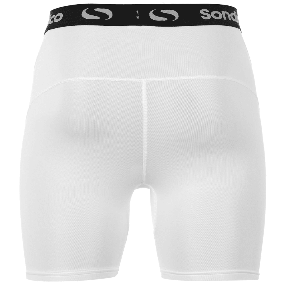 SONDICO Men's Core 6 Base Layer Shorts - WHITE
