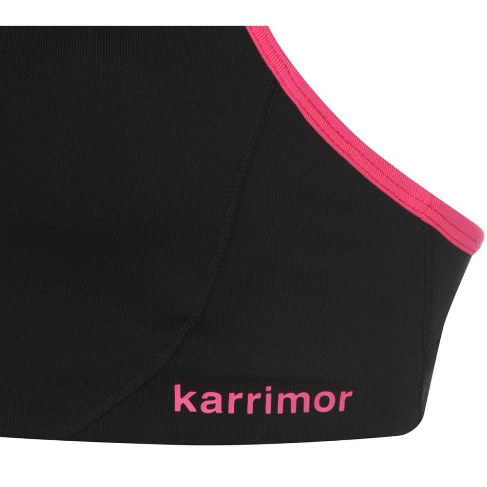 KARRIMOR Women's Tempo Sports Bra - BLACK/PINK