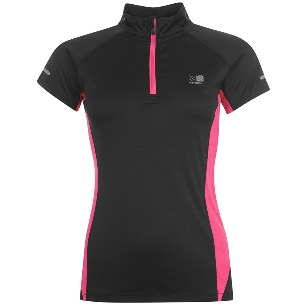 KARRIMOR Women's 1/4 Zip Short-Sleeve Tee 6