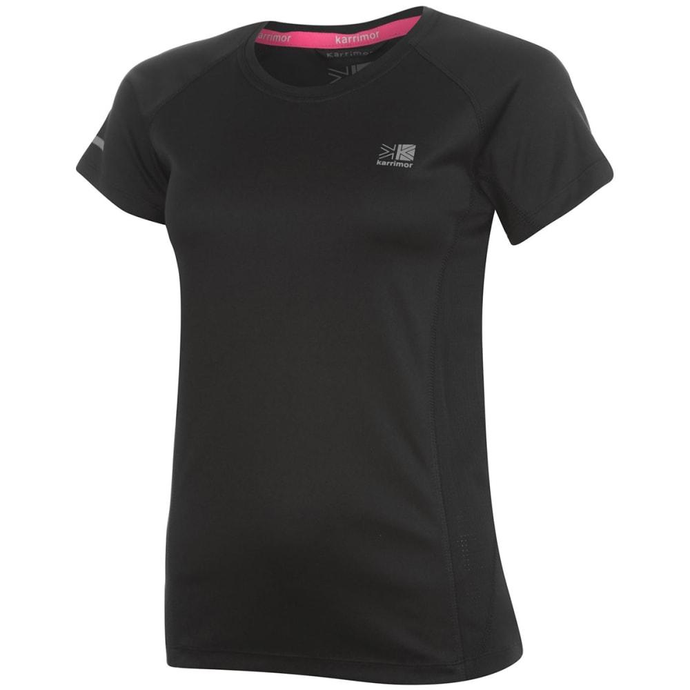 KARRIMOR Women's Run Short-Sleeve Tee - BLACK