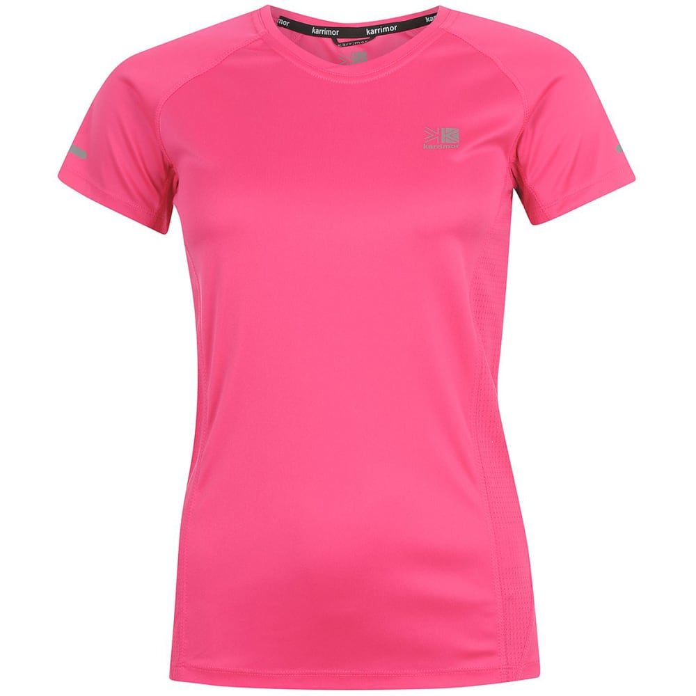 KARRIMOR Women's Run Short-Sleeve Tee - PINK