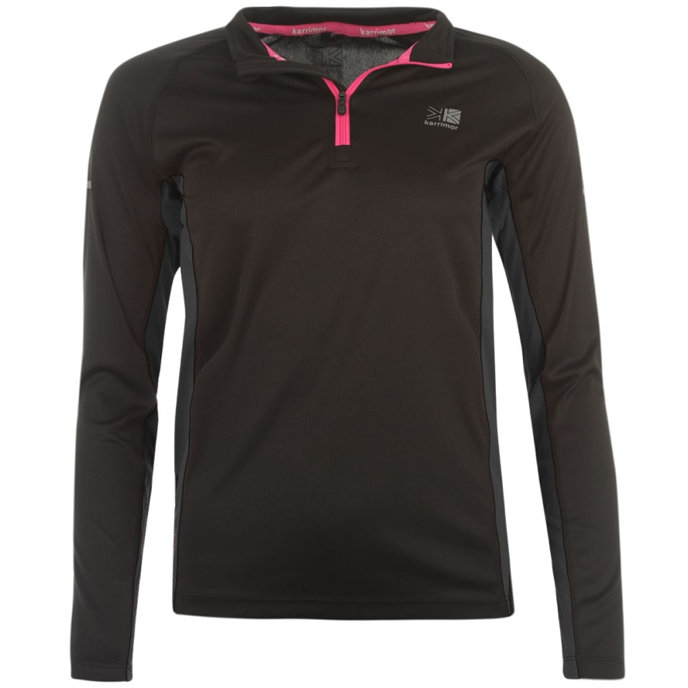 KARRIMOR Women's ¼-Zip Long-Sleeve Top - BLACK