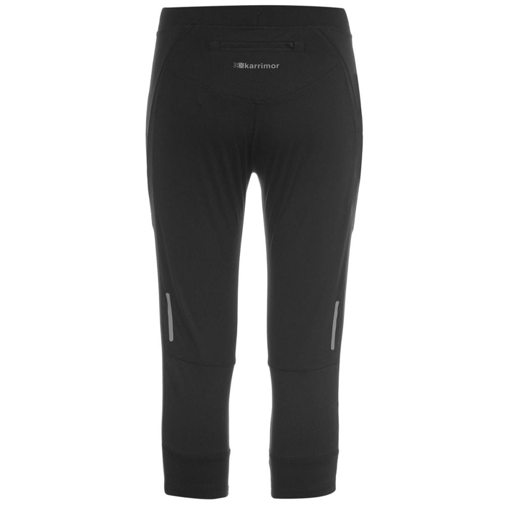 KARRIMOR Women's Run Capri Tights - BLACK