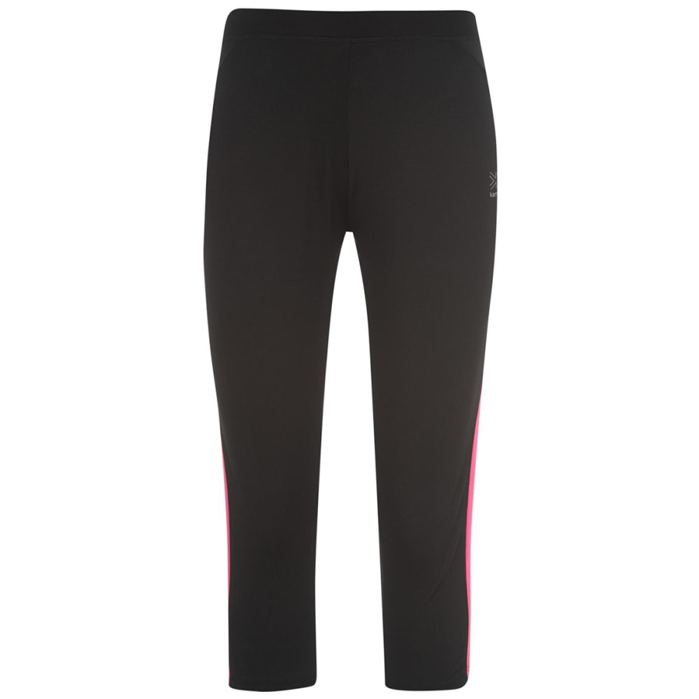 KARRIMOR Women's Run Capri Tights - BLACK/PINK