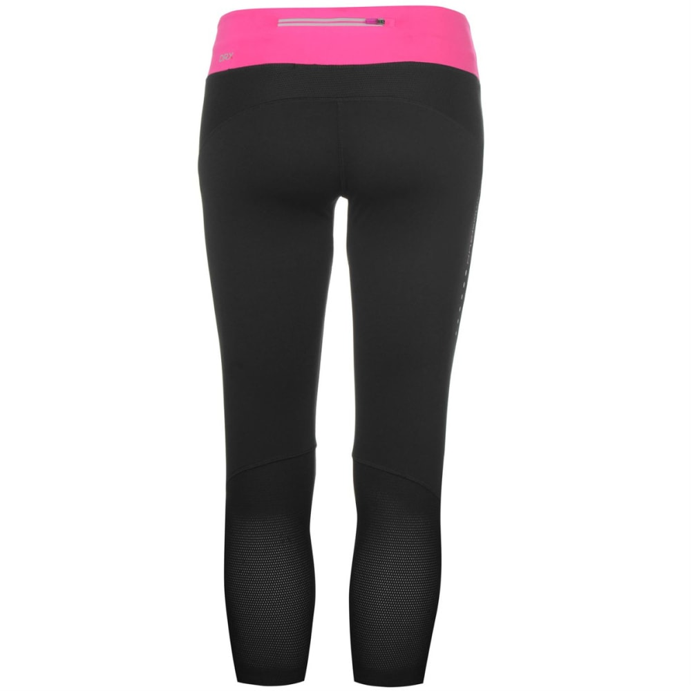 KARRIMOR Women's X Running Capri Pants - BLACK/PINK