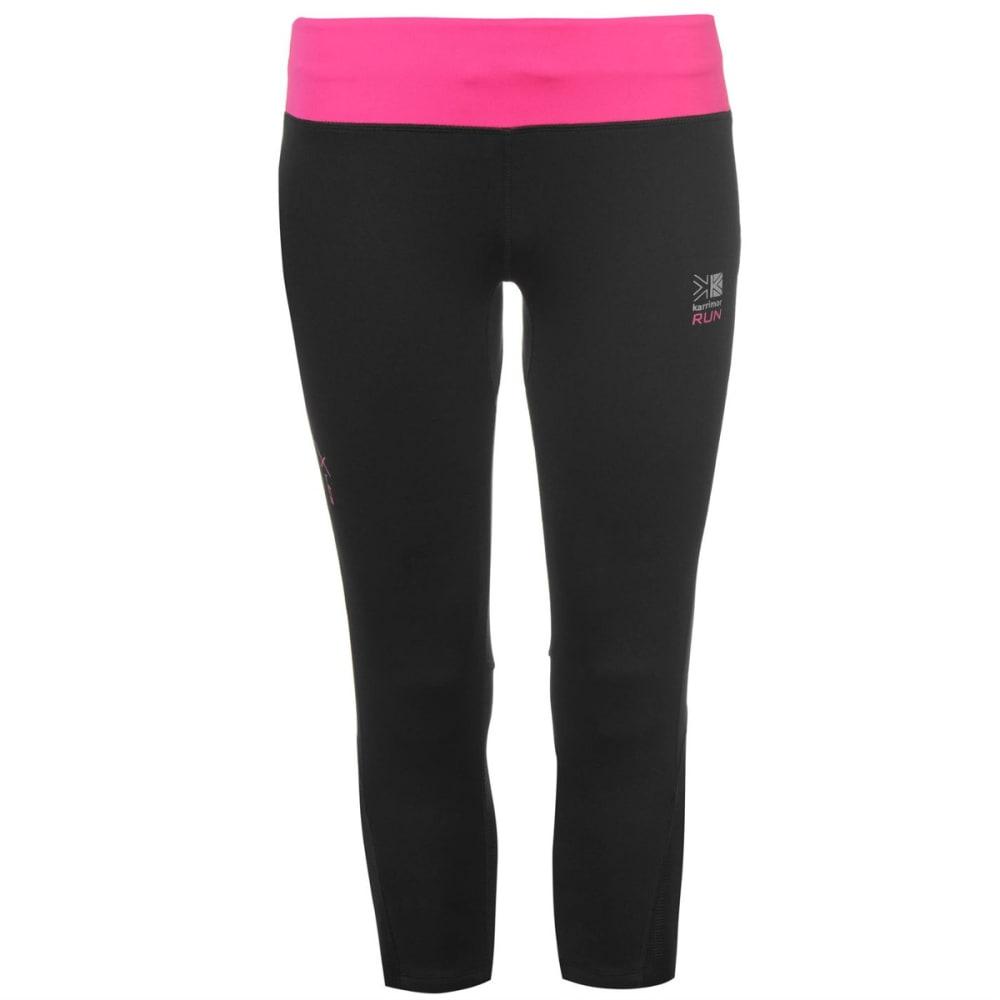 KARRIMOR Women's X Running Capri Pants - BLACK/PINK