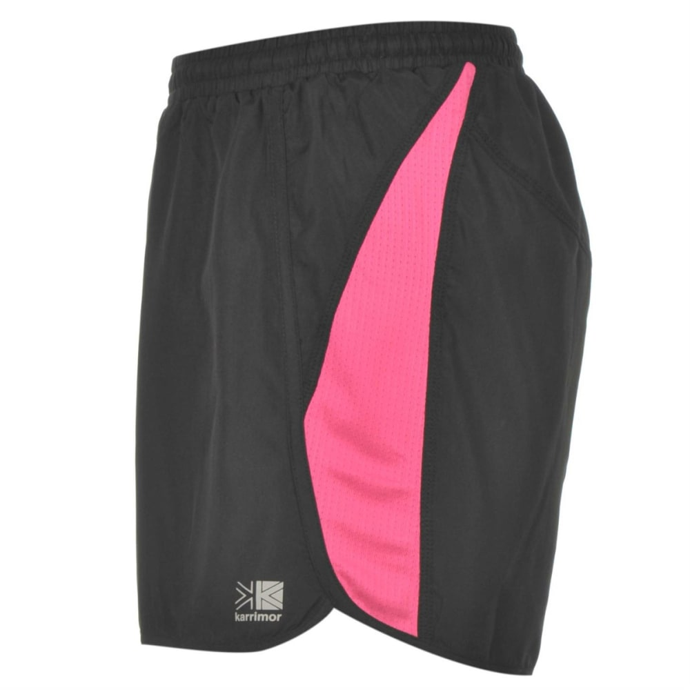 KARRIMOR Women's Run Shorts - BLACK/PINK