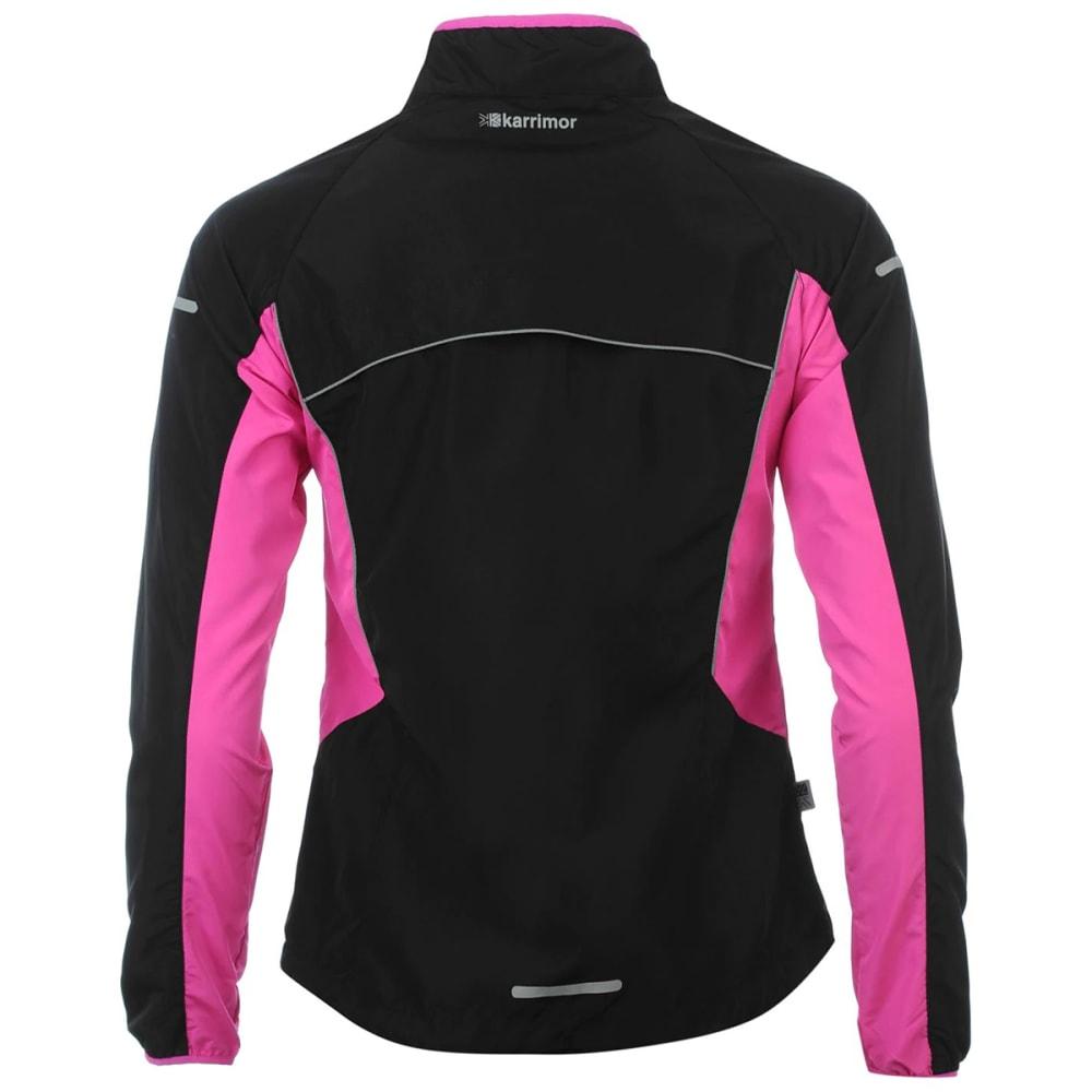 KARRIMOR Women's Running Jacket - BLACK/PINK