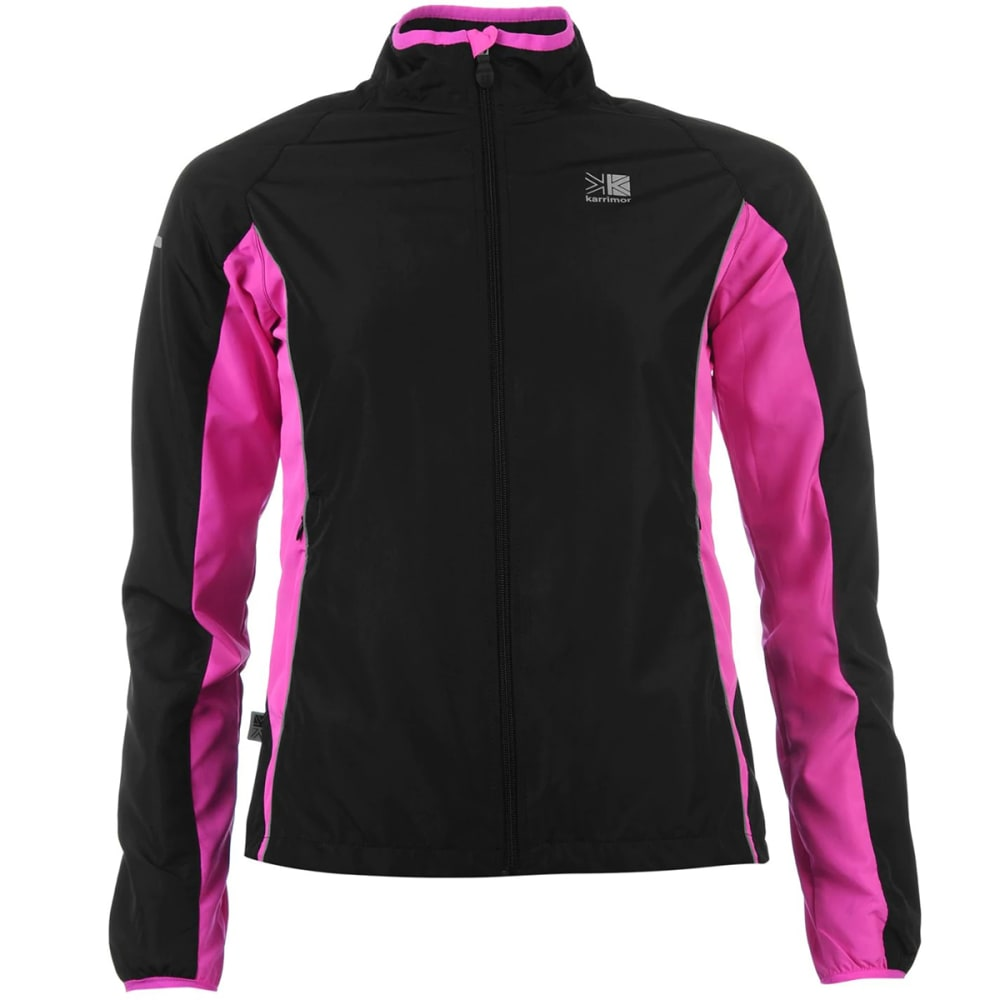 KARRIMOR Women's Running Jacket - BLACK/PINK