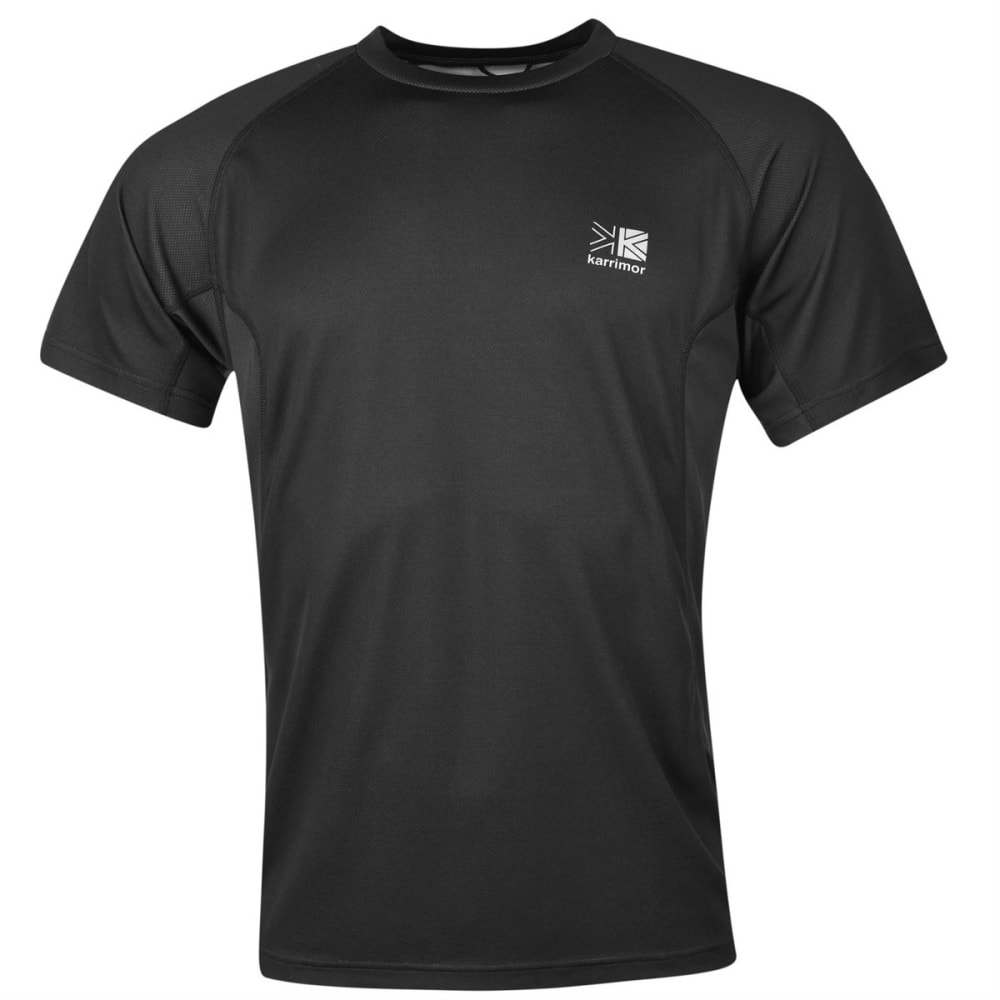 KARRIMOR Men's Aspen Technical Short-Sleeve Tee - BLACK/CHARCOAL