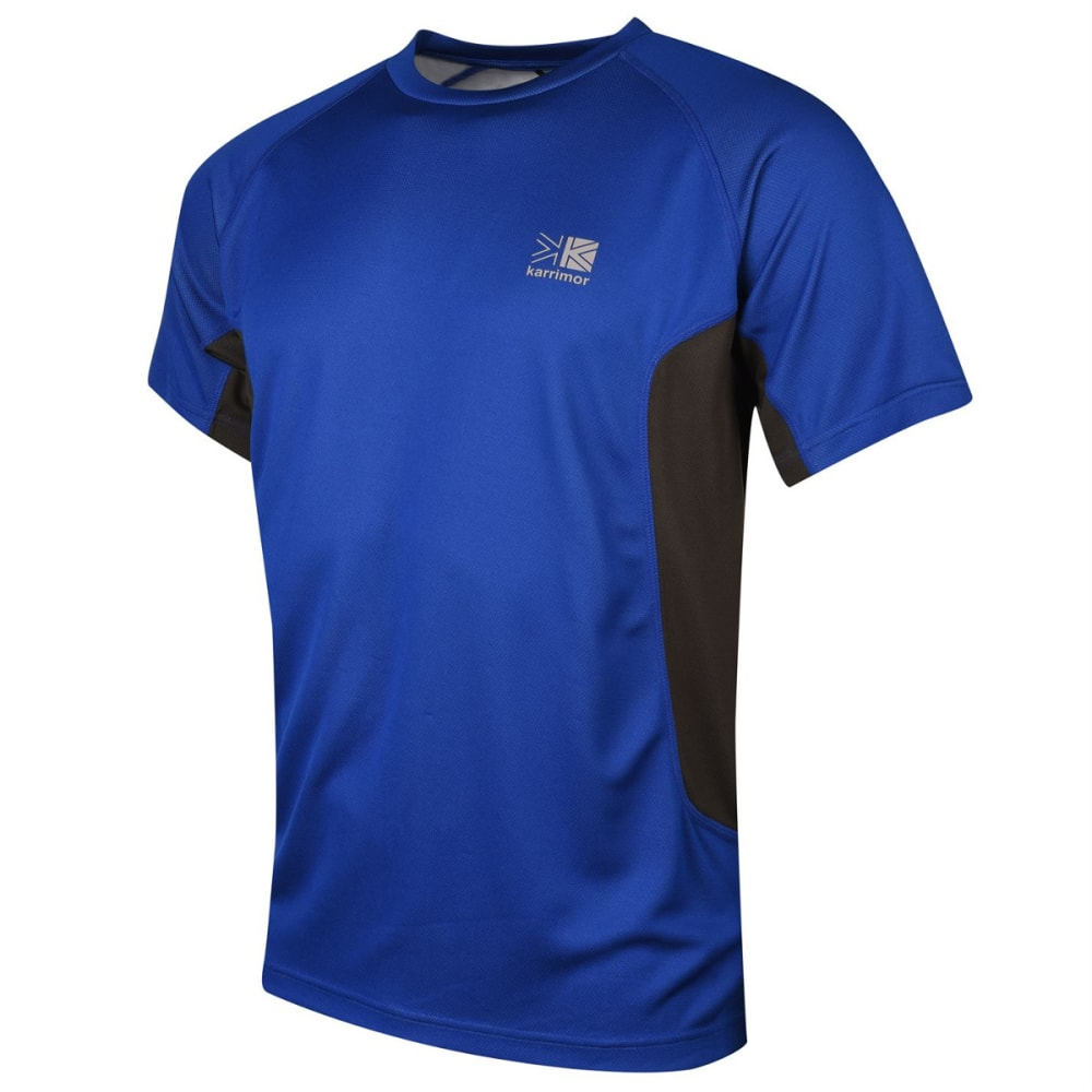 KARRIMOR Men's Technical Short-Sleeve Tee - Surf Blue/Char
