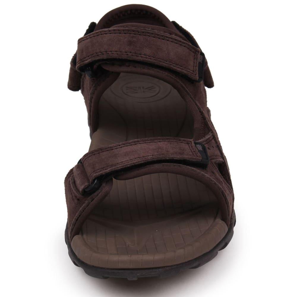 KARRIMOR Men's Antibes Leather Hiking Sandals - BROWN