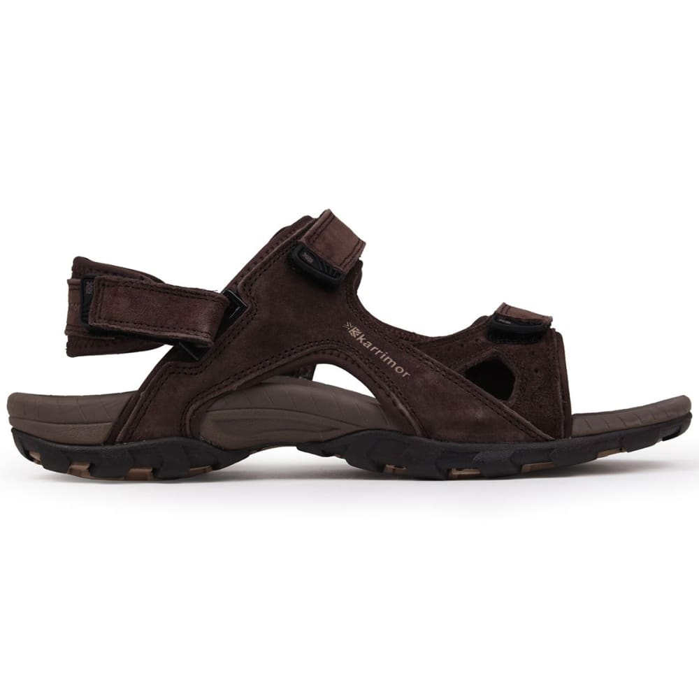 KARRIMOR Men's Antibes Leather Hiking Sandals - BROWN
