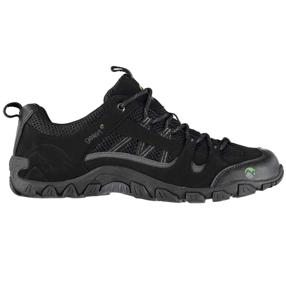 GELERT Men's Rocky Low Hiking Shoes, Black - BLACK
