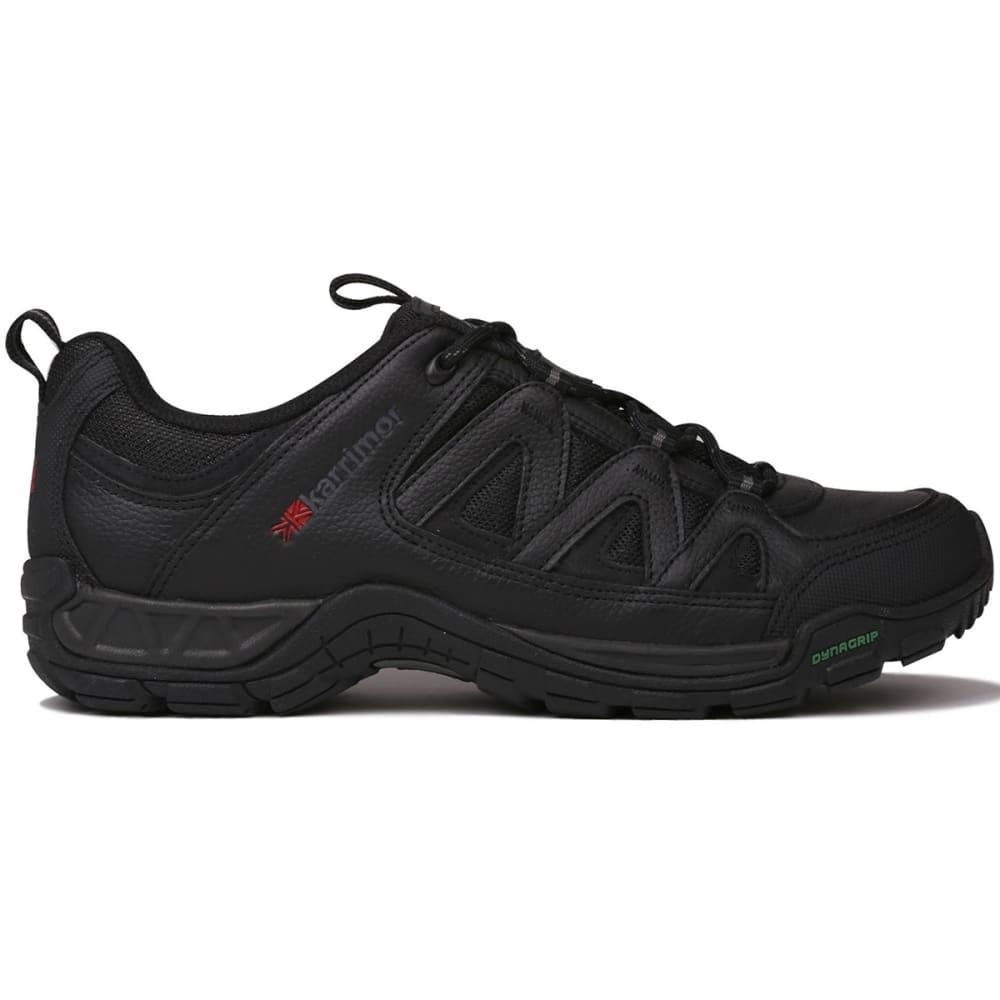 KARRIMOR Men's Summit Leather Low Hiking Shoes, Black - BLACK