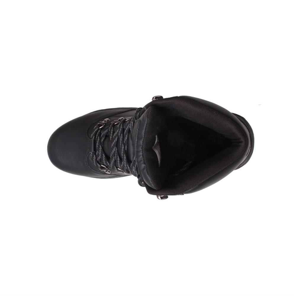 GELERT Men's Leather Mid Hiking Boots - BLACK