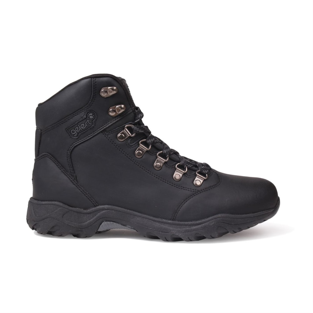 GELERT Men's Leather Mid Hiking Boots - BLACK