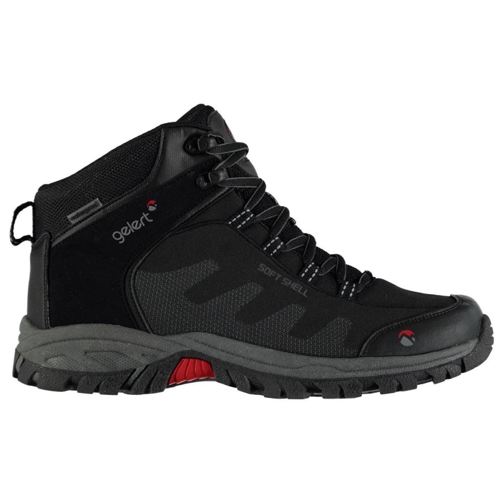 GELERT Men's Softshell Mid Waterproof Hiking Shoes - BLACK
