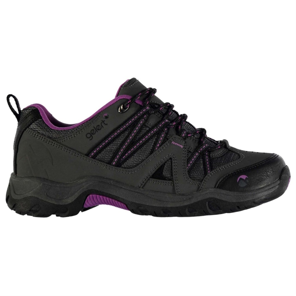 GELERT Women's Ottawa Low Hiking Shoes - CHARCOAL/PURPLE