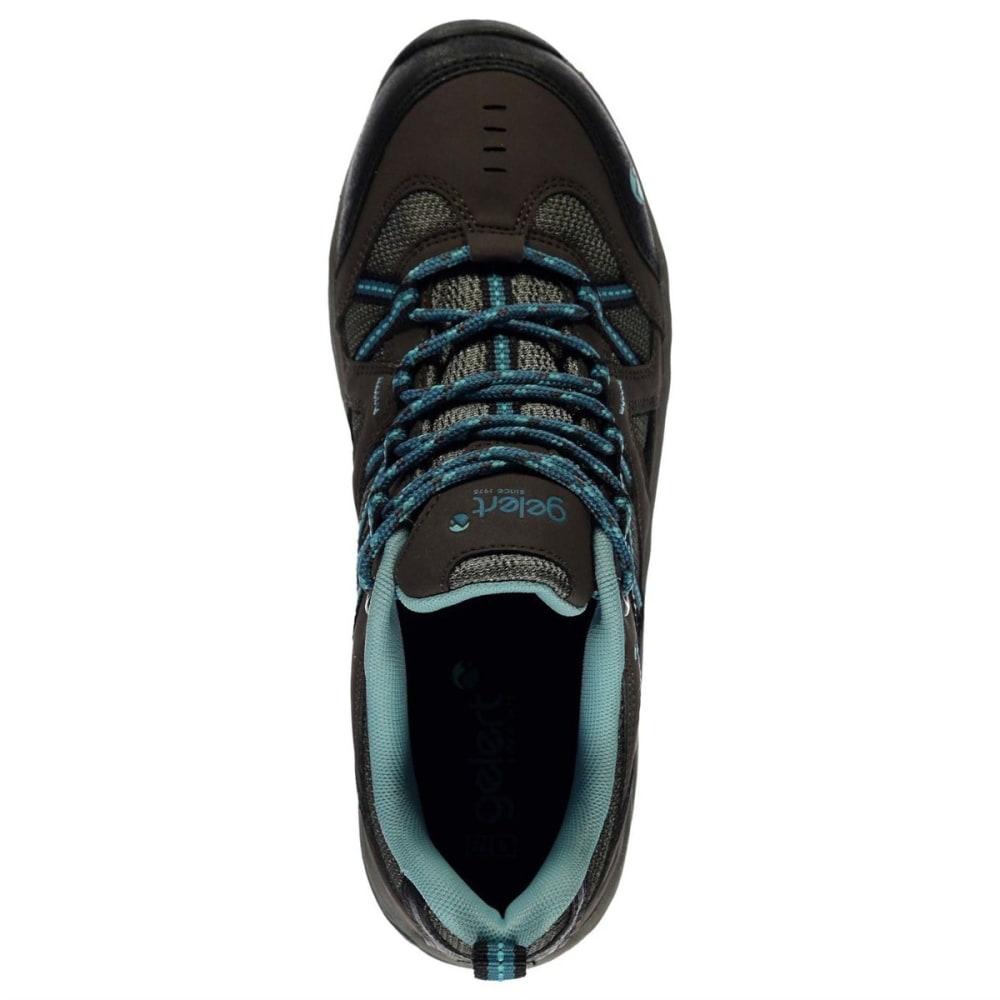 GELERT Women's Ottawa Low Hiking Shoes - BROWN/TEAL