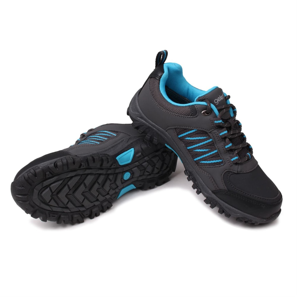 GELERT Kids' Horizon Low Waterproof Hiking Shoes - CHARCOAL/BLUE