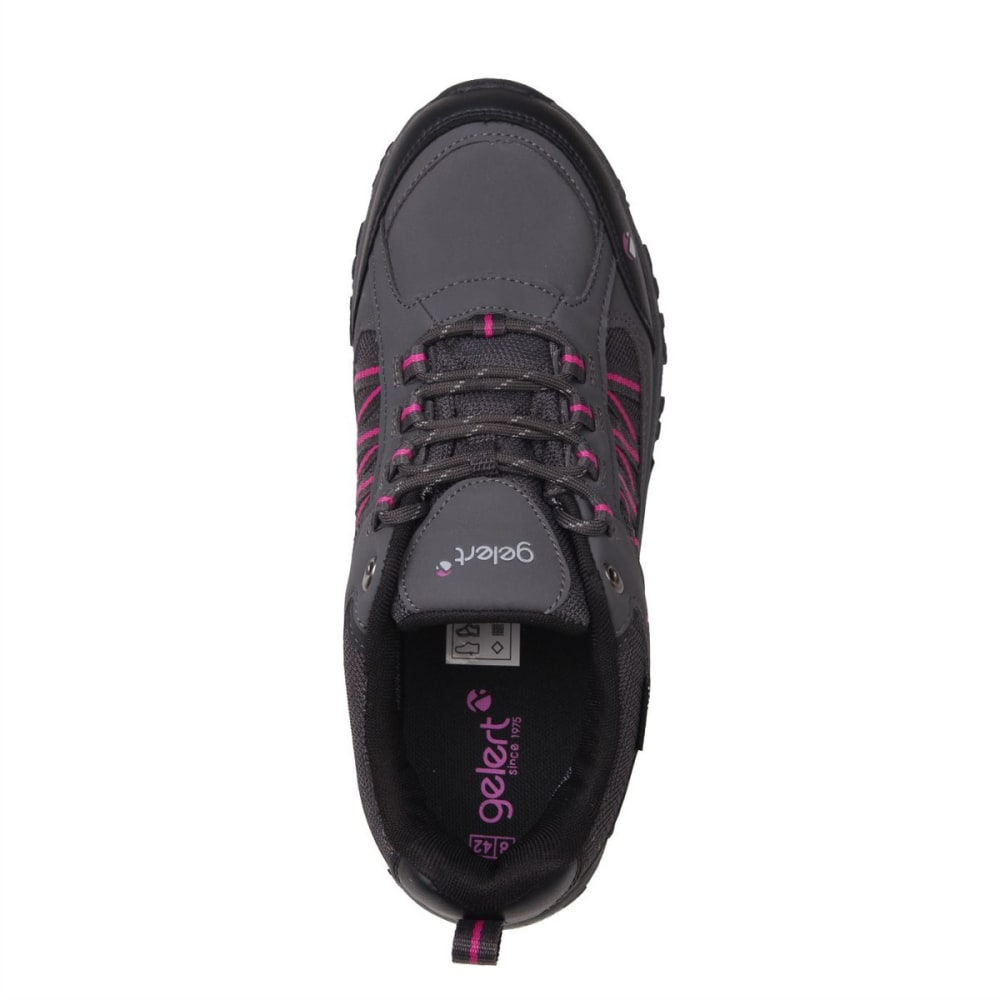 GELERT Women's Horizon Low Waterproof Hiking Shoes - CHARCOAL