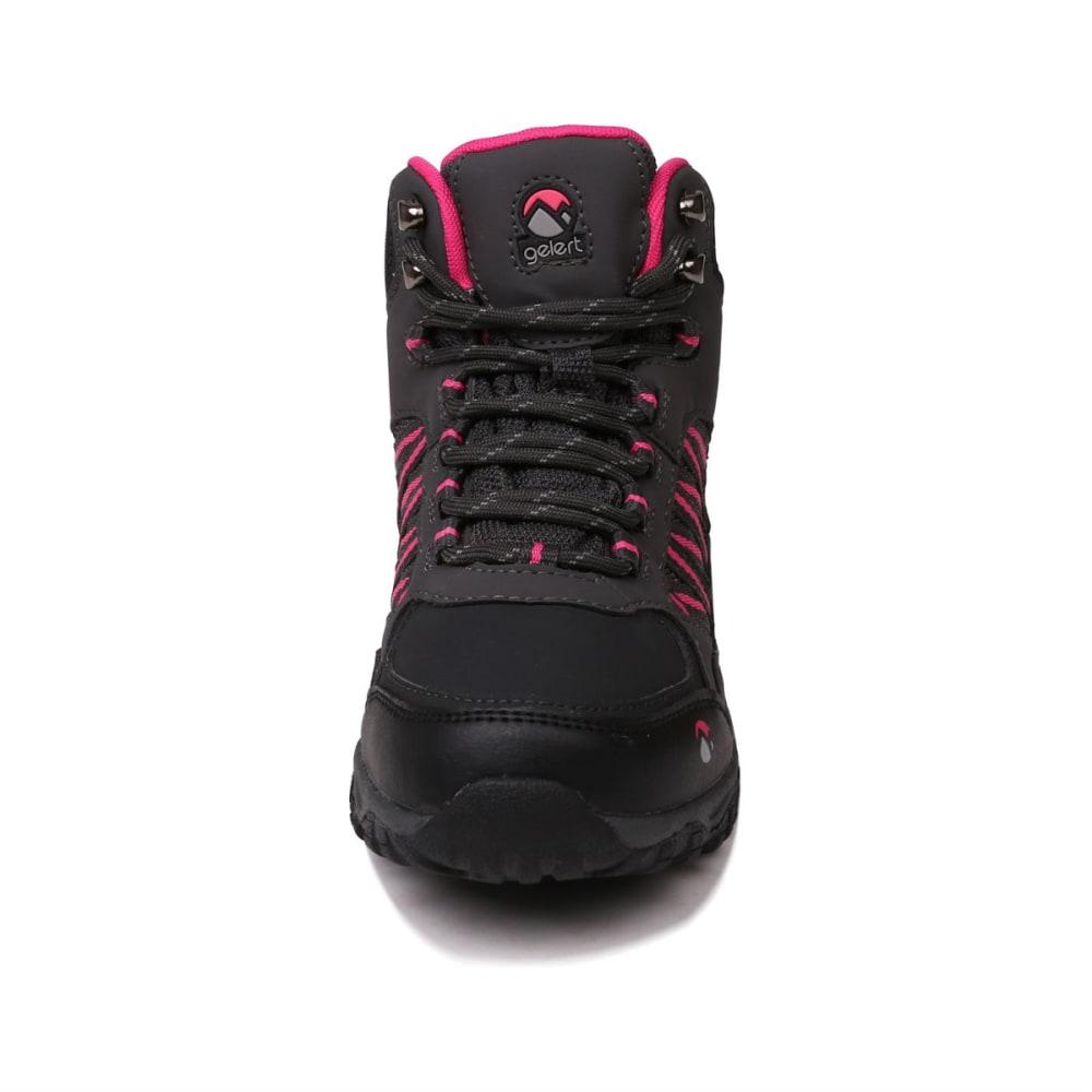 GELERT Kids' Horizon Mid Waterproof Hiking Boots - CHARCOAL/PINK