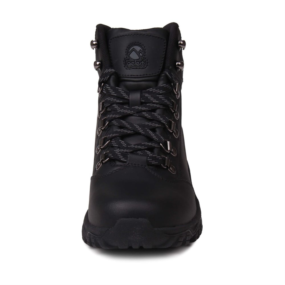 GELERT Kids' Leather Mid Hiking Boots - BLACK