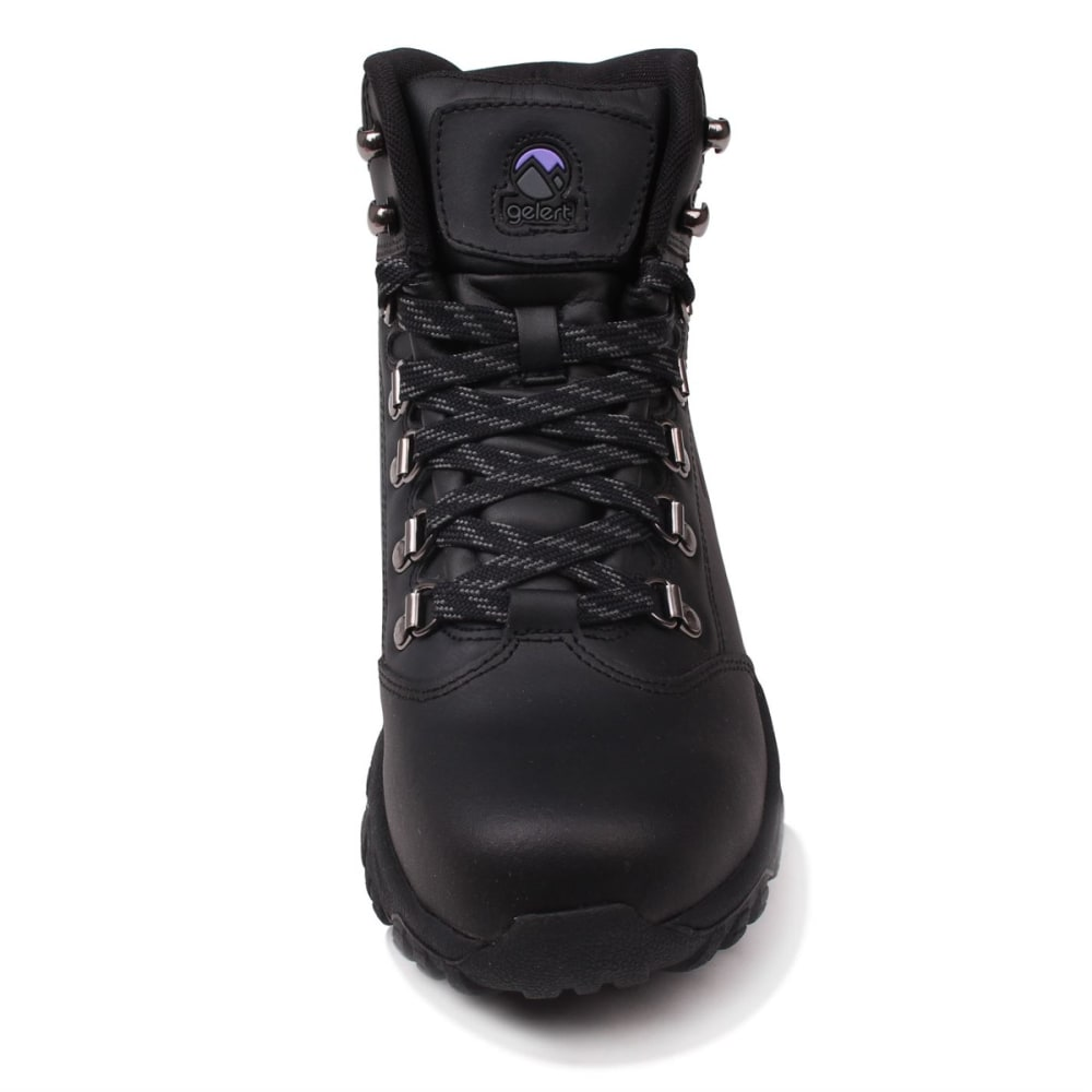 GELERT Women's Leather Mid Hiking Boots - BLACK