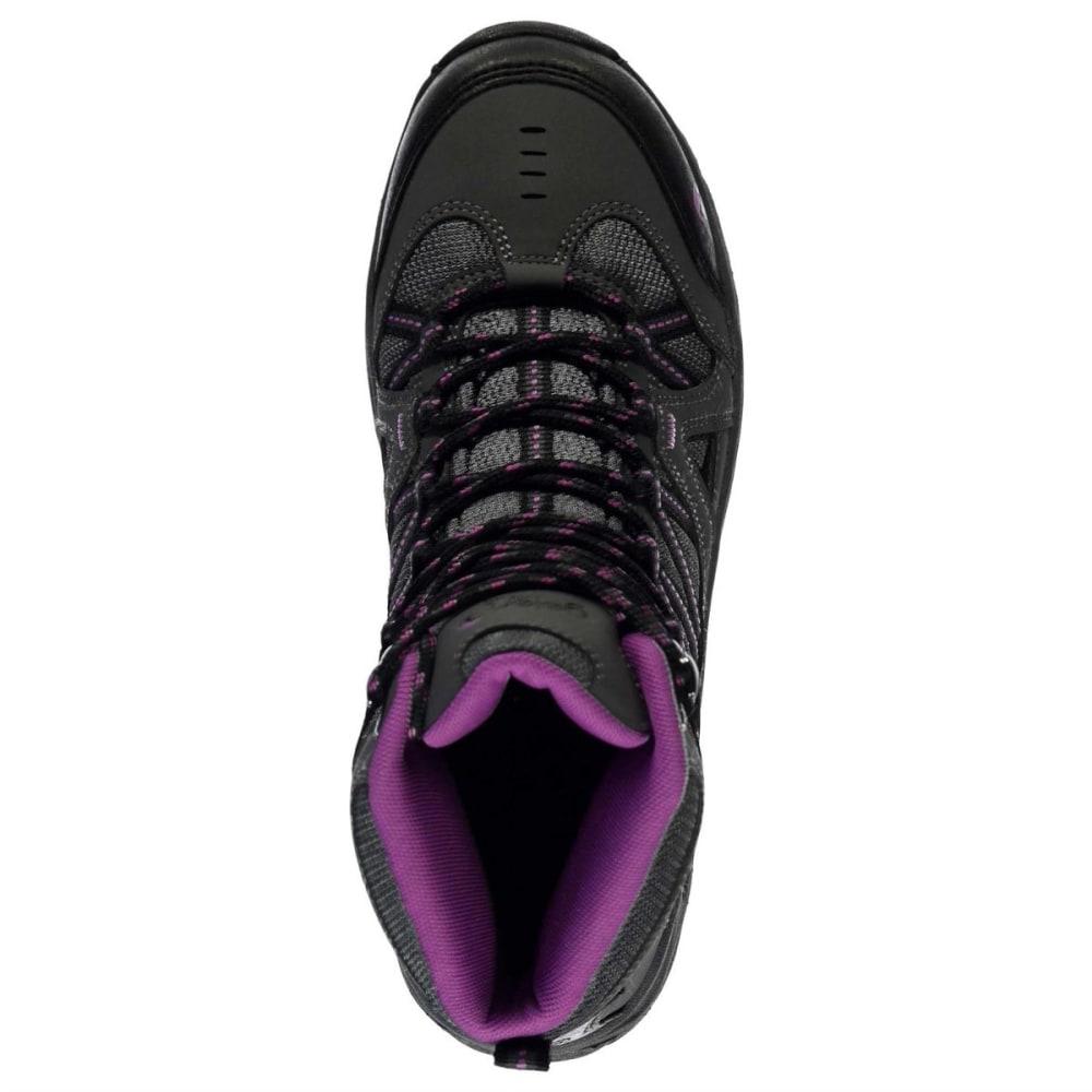 GELERT Women's Ottawa Mid Hiking Boots - CHARCOAL/PURPLE