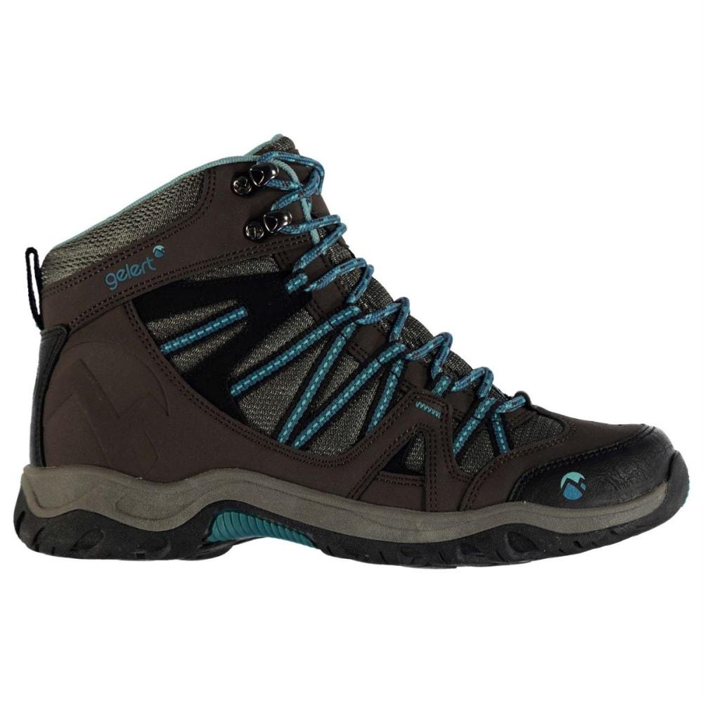 GELERT Women's Ottawa Mid Hiking Boots - BROWN/TEAL