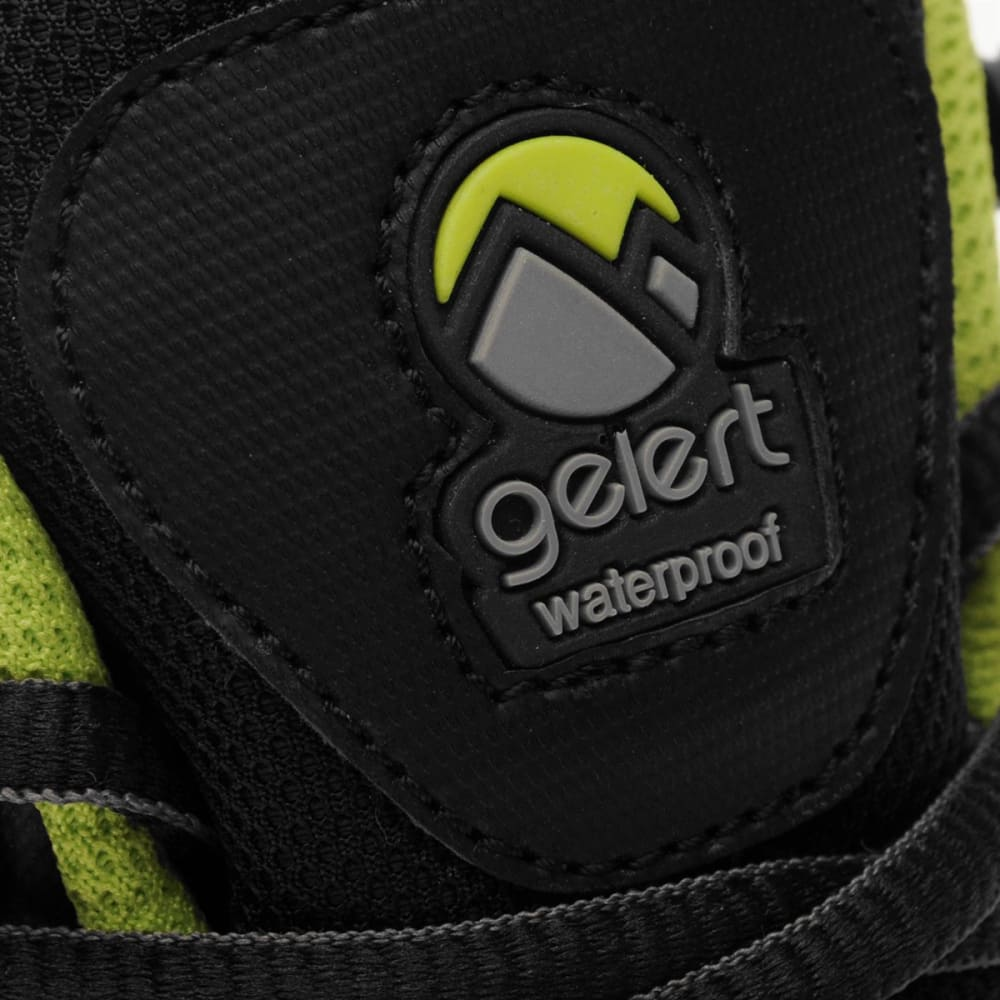 GELERT Kids' Softshell Mid Waterproof Hiking Boots - BLACK/LIME