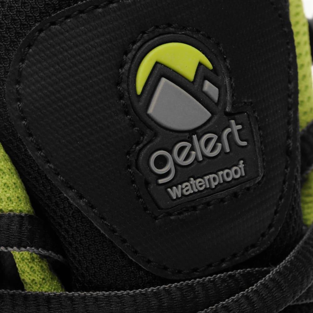 GELERT Kids' Softshell Mid Waterproof Hiking Boots - BLACK/LIME